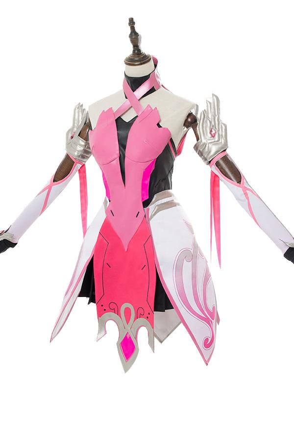 Overwatch Mercy Angela Ziegler Outfit Pink Mercy Skin