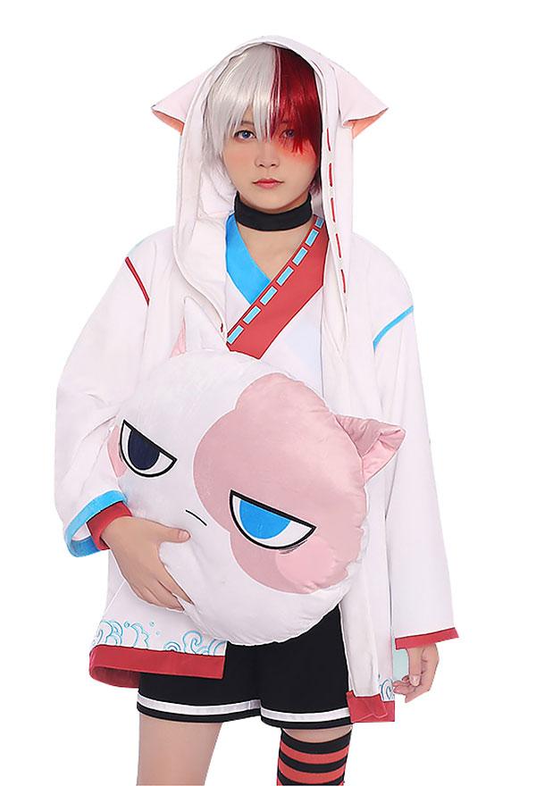 My Hero Academia Shoto Todoroki Cosplay Costume Hooded ...